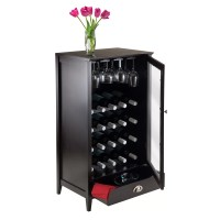 Winsome Bordeaux 20 Bottle Floor Wine Cabinet & Reviews ...