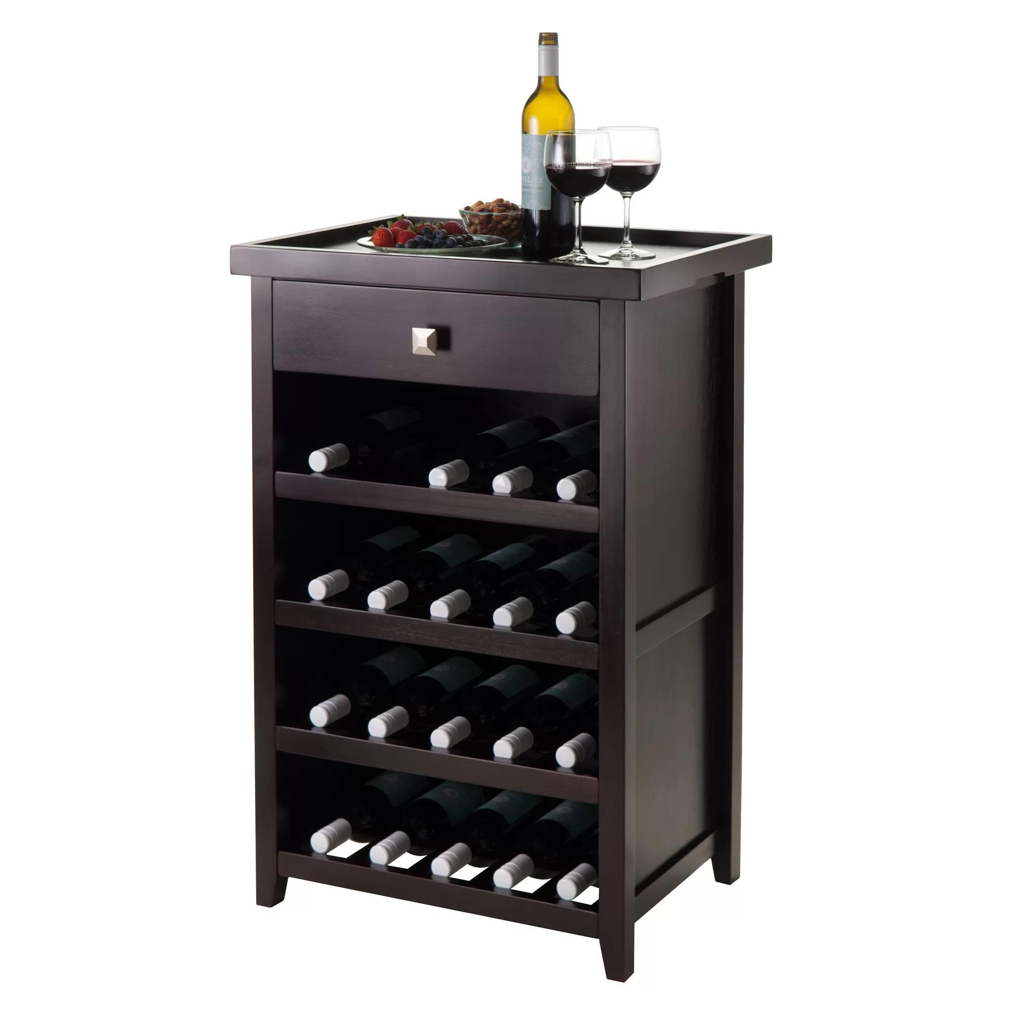 Winsome Zillah 20 Bottle Floor Wine Rack  Reviews  Wayfair