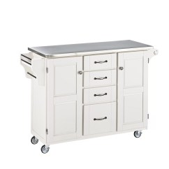 Kitchen Cart Stainless Steel Pans Home Styles Create A Island With