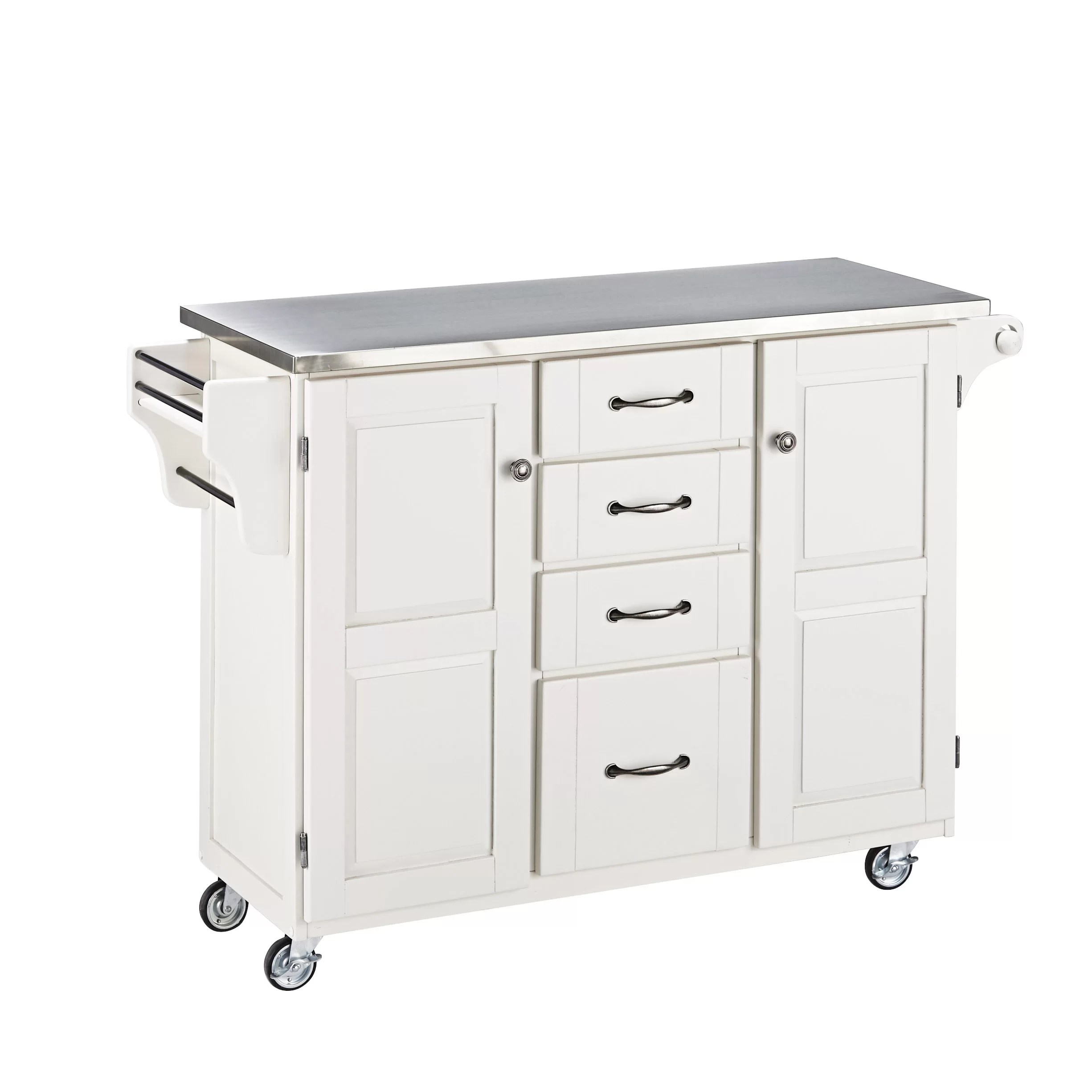 stainless steel kitchen cart drop leaf home styles create a island with
