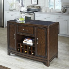 Granite Top Kitchen Island Butcher Block Cart Home Styles Crescent Hill With