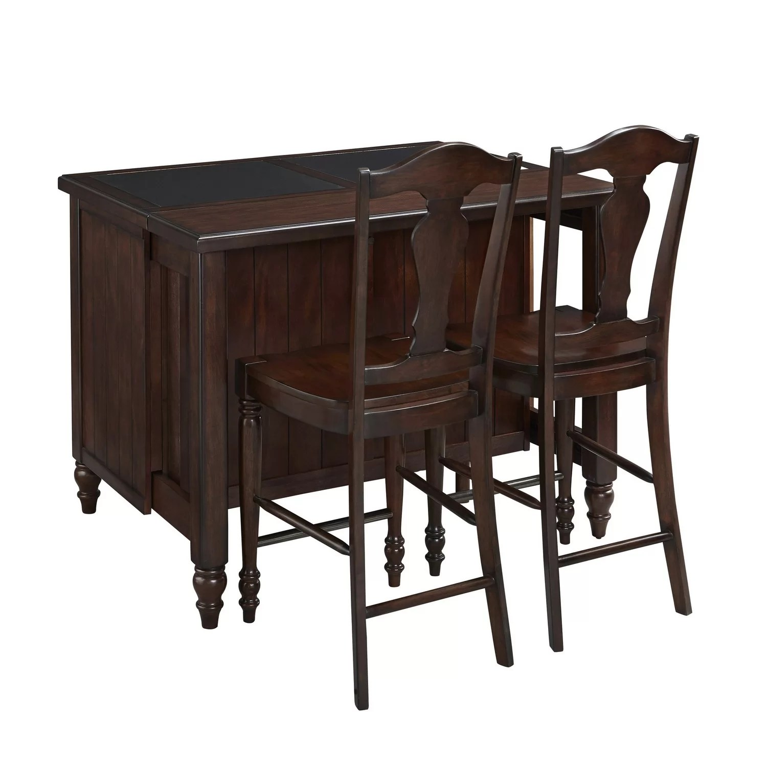 wayfair kitchen stools refinished cabinets home styles country comfort 3 piece island set