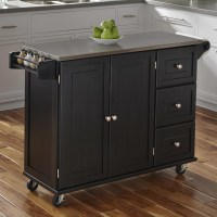 Home Styles Liberty Kitchen Island with Stainless Steel ...