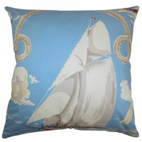 The Pillow Collection Margalo Coastal Cotton Throw Pillow ...