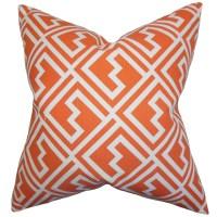 The Pillow Collection Ragnhild Geometric Cotton Throw ...