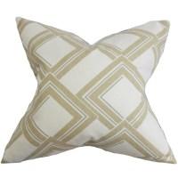 The Pillow Collection Jersey Geometric Throw Pillow | Wayfair