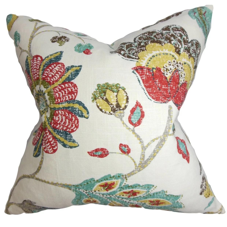 The Pillow Collection Jora Floral Throw Pillow  Reviews