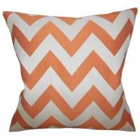 The Pillow Collection Diahann Chevron Throw Pillow ...