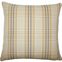 The Pillow Collection Mahlah Plaid Cotton Throw Pillow