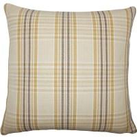 The Pillow Collection Mahlah Plaid Cotton Throw Pillow ...