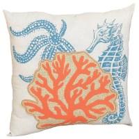 Xia Home Fashions Coastal Applique Sea Life and Coral ...