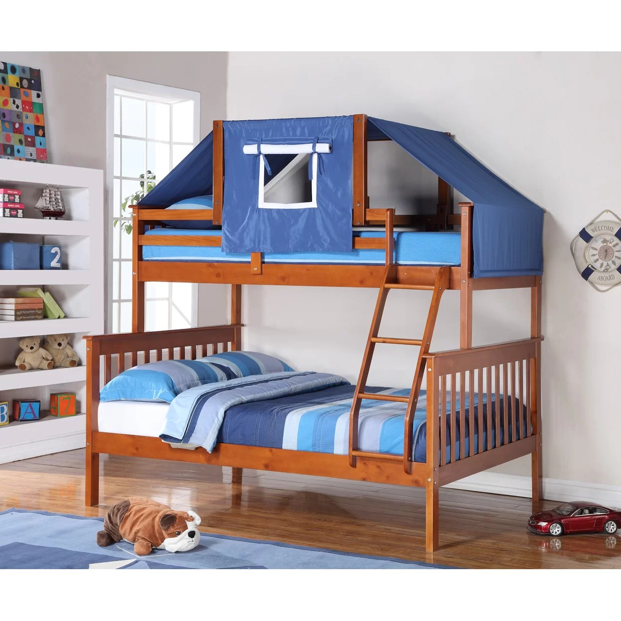 loft bed with chair futon how to install rail molding on stairs donco kids twin over full bunk