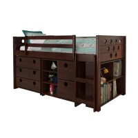 Donco Kids Circles Twin Loft Bed with Storage & Reviews ...