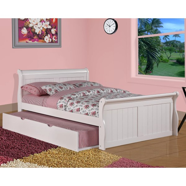 Donco Kids Sleigh Bed With Twin Trundle &