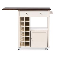 Unfinished Kitchen Cart Cost For New Cabinets Wholesale Interiors Baxton Studio Justin Solid Wood