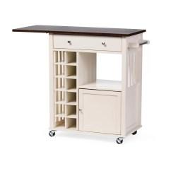 Unfinished Kitchen Cart Stove Wholesale Interiors Baxton Studio Justin Solid Wood