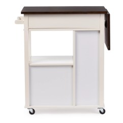 Unfinished Kitchen Cart Free Standing Islands With Seating Wholesale Interiors Baxton Studio Justin Solid Wood
