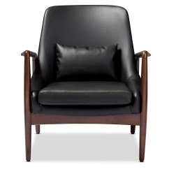 Baxton Studio Modern Leather Accent Chair Loveseat Lawn Wholesale Interiors Carter Lounge