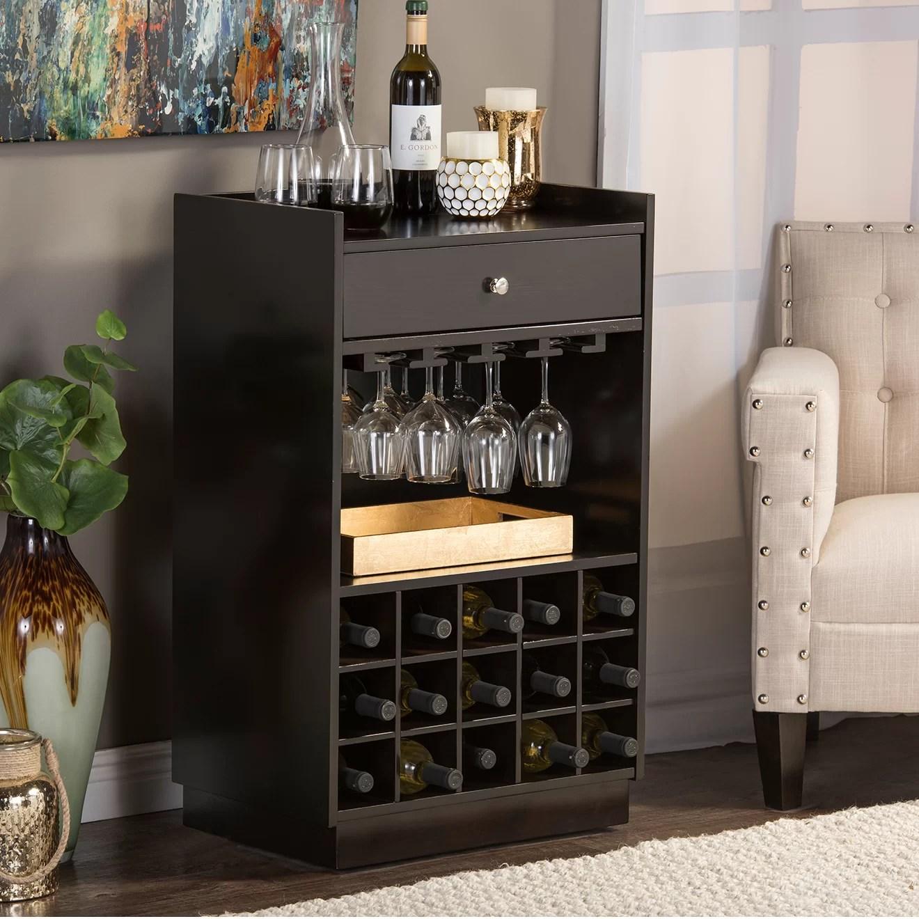 Wholesale Interiors Baxton Studio 15 Bottle Tabletop Wine