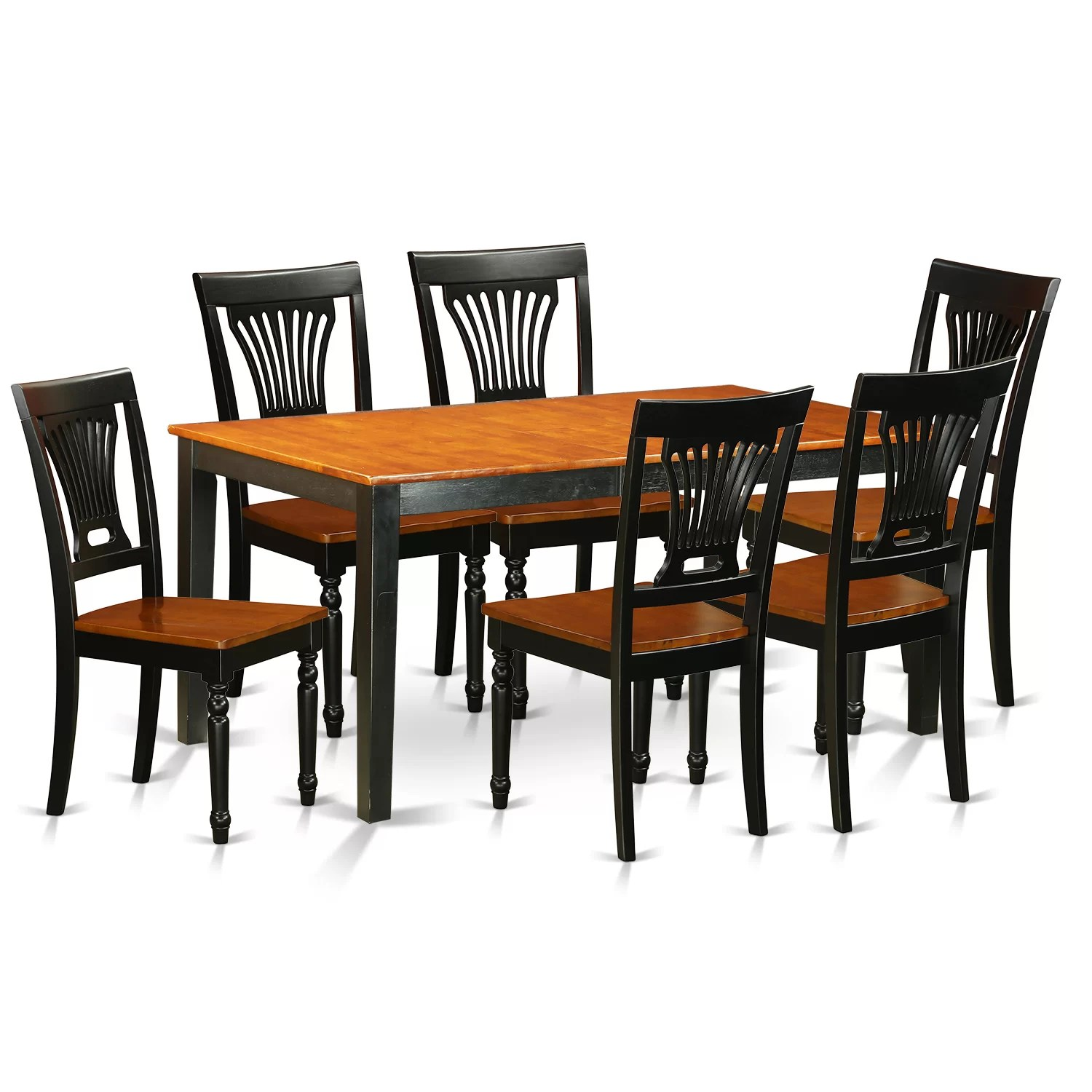 Wayfair Dining Chairs East West Nicoli 7 Piece Dining Set Wayfair