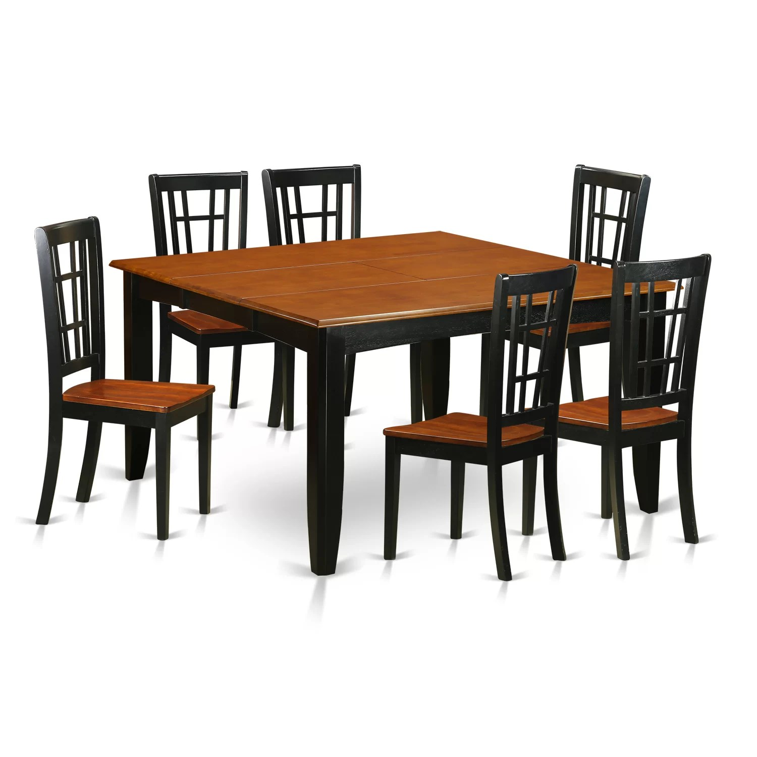 6 Dining Room Chairs East West Parfait 7 Piece Dining Set Wayfair