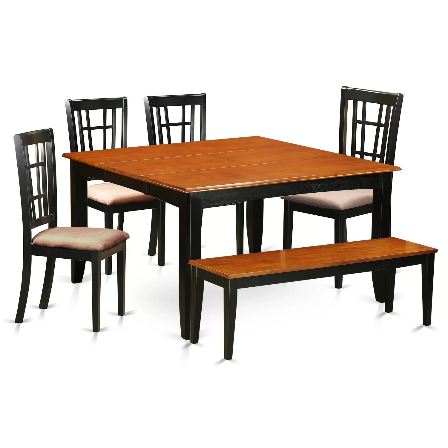 Wayfair Dining Chairs East West Parfait 6 Piece Dining Set Wayfair