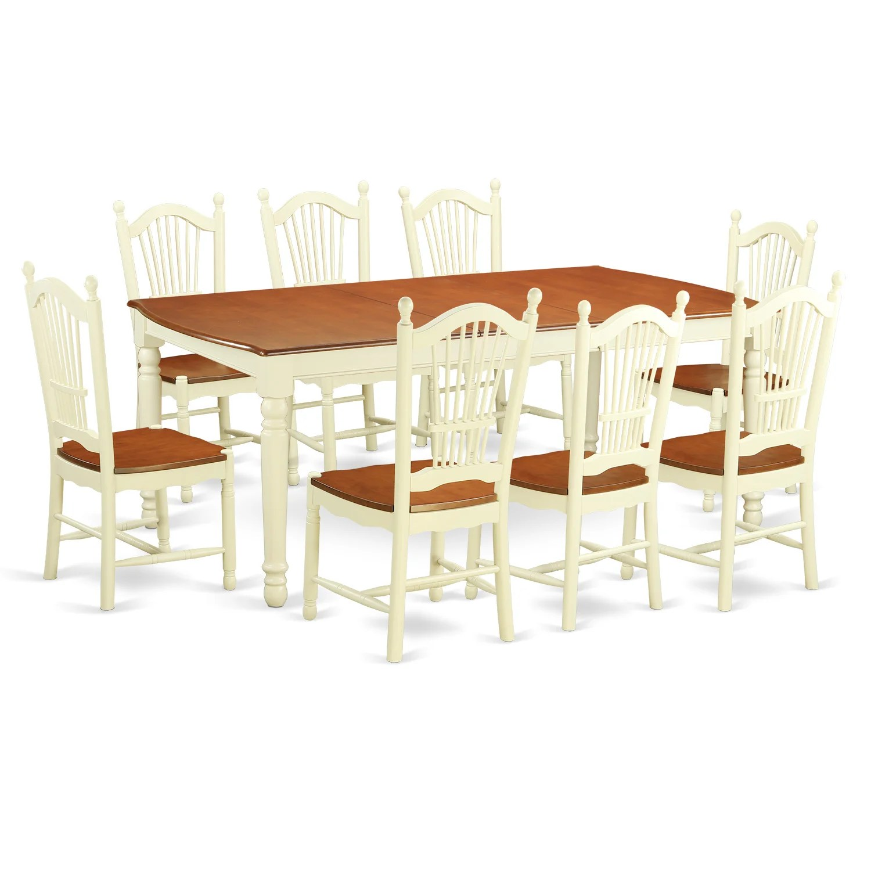 9 piece kitchen table set laminate flooring east west dover dining wayfair