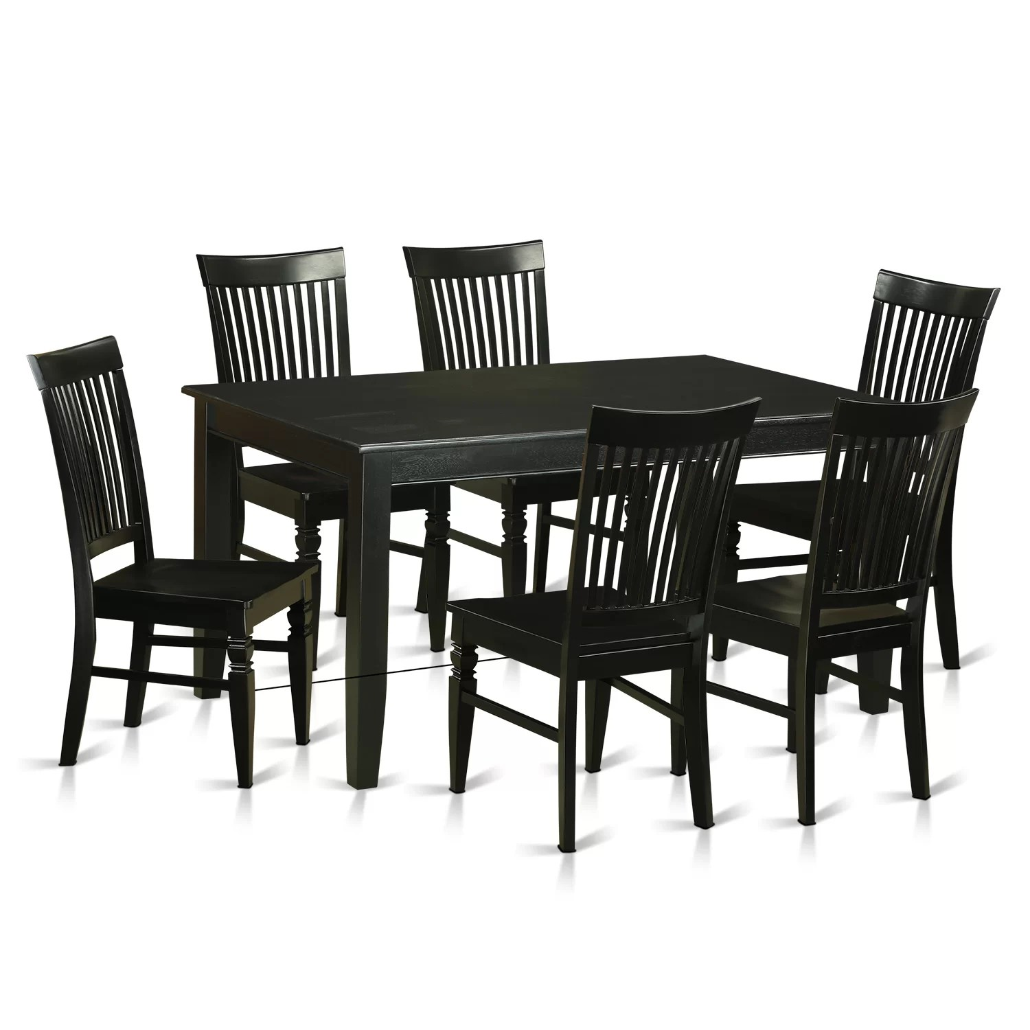 Wayfair Dining Chairs East West Dudley 7 Piece Dining Set Wayfair