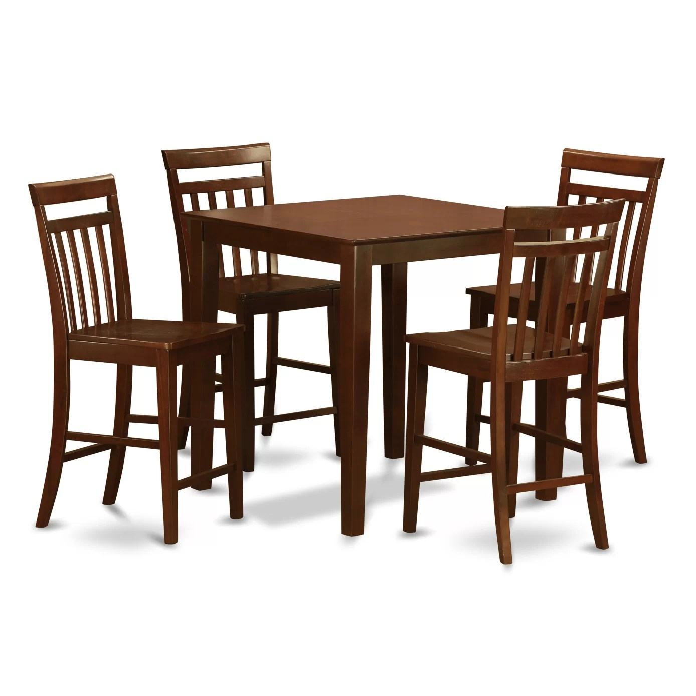 bar height table and chairs set slipcovers for childrens east west vernon 5 piece counter pub