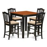 East West 5 Piece Counter Height Pub Table Set | Wayfair