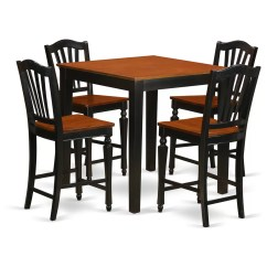 High Table And Chairs For Kitchen Leather Office Johannesburg East West 5 Piece Counter Height Pub Set Wayfair
