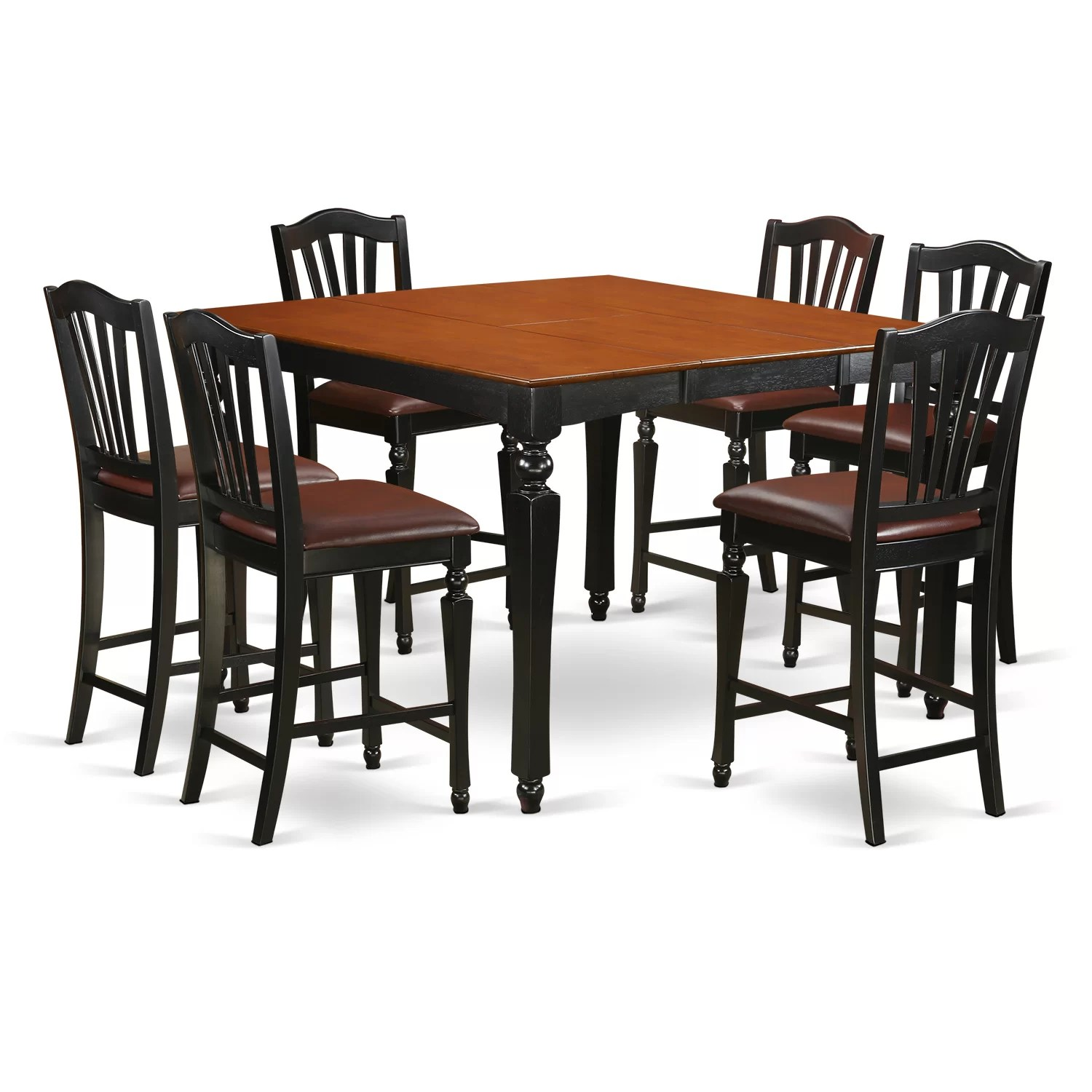 Infini Furnishings 7 Piece Counter Height Dining Set Wayfair