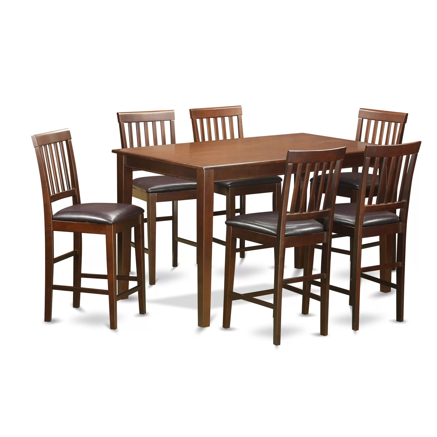 Wooden Importers 7 Piece Counter Height Dining Set  Wayfair