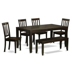 Kitchen Table With Bench And Chairs Design For A Small Space Wooden Importers Lynfield 6 Piece Dining Set Wayfair