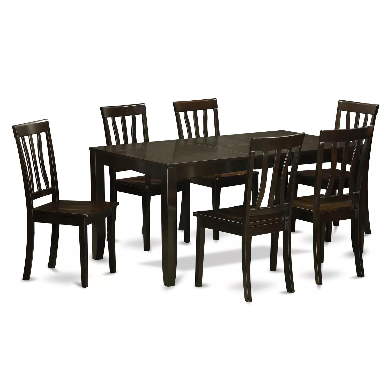 6 piece kitchen table sets gray floor wooden importers lynfield 7 dining set wayfair