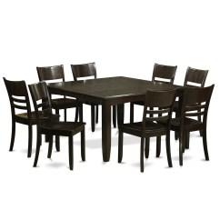 8 Chair Kitchen Table Cabinet Door Handles Wooden Importers Parfait 9 Piece Dining Set Wayfair