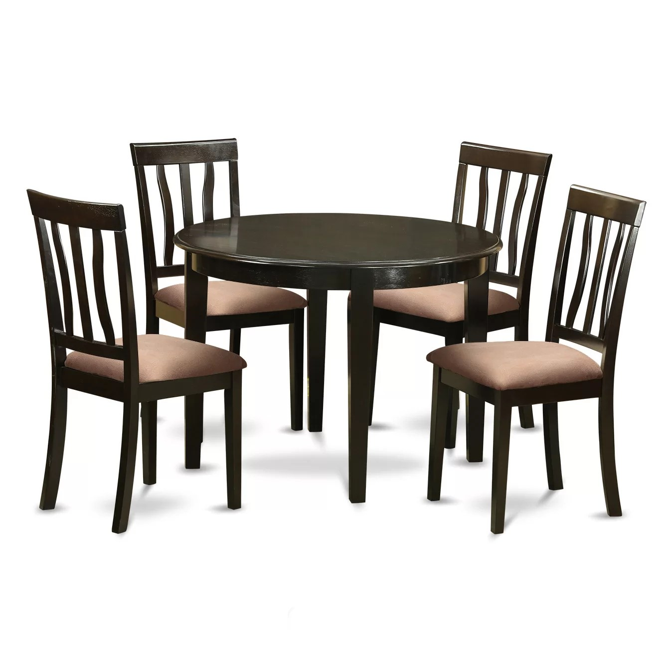Small Round Table And Chairs Wooden Importers Boston 5 Piece Dining Set Wayfair