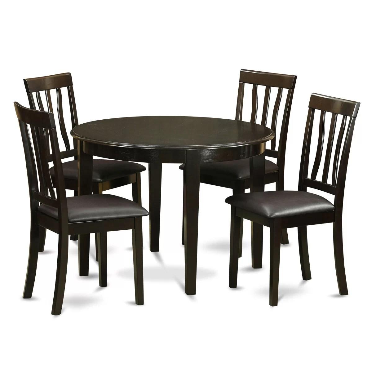 Wooden Importers Boston 5 Piece Dining Set  Wayfair