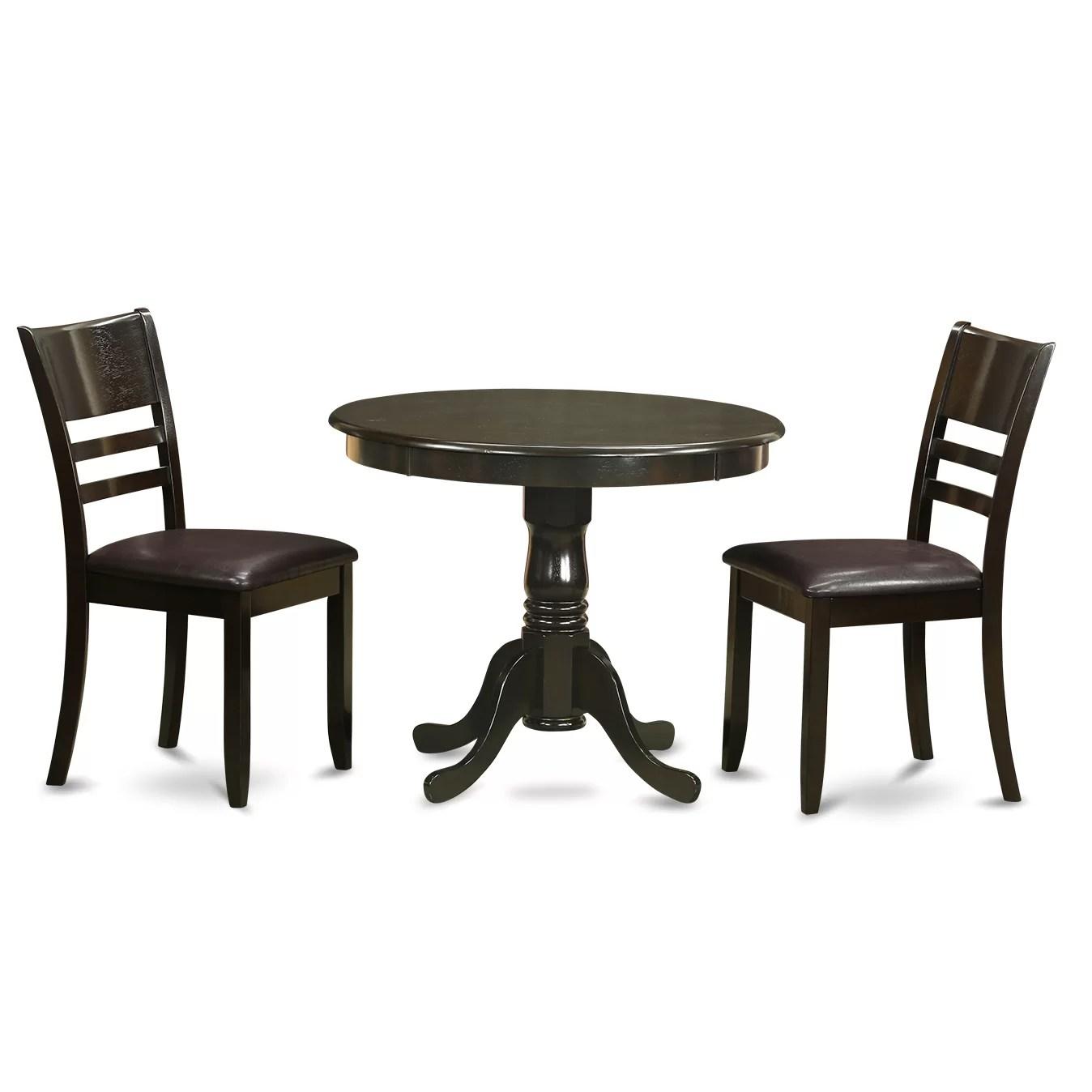 Wooden Importers 3 Piece Dining Set  Wayfair