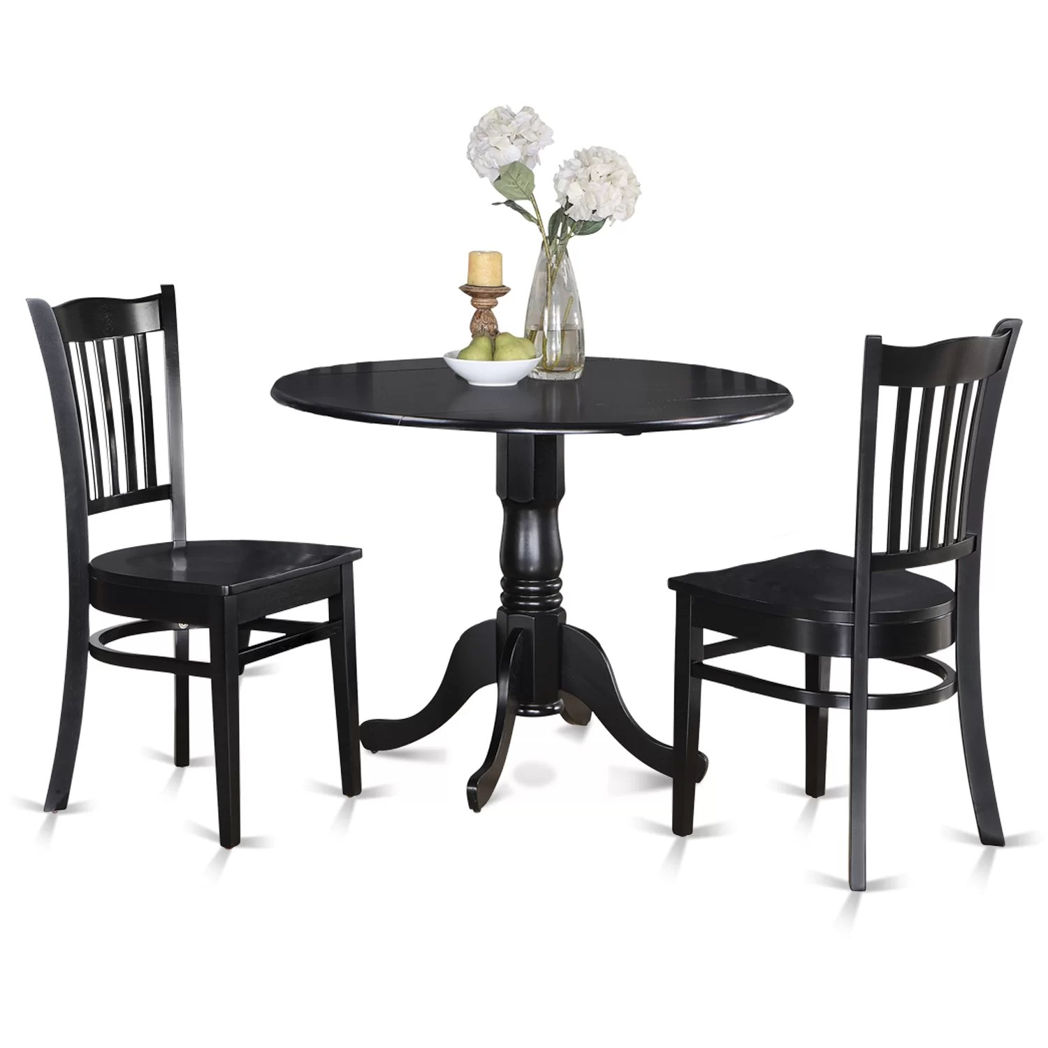 Small Kitchen Table With 2 Chairs Wooden Importers Dublin 3 Piece Dining Set And Reviews Wayfair