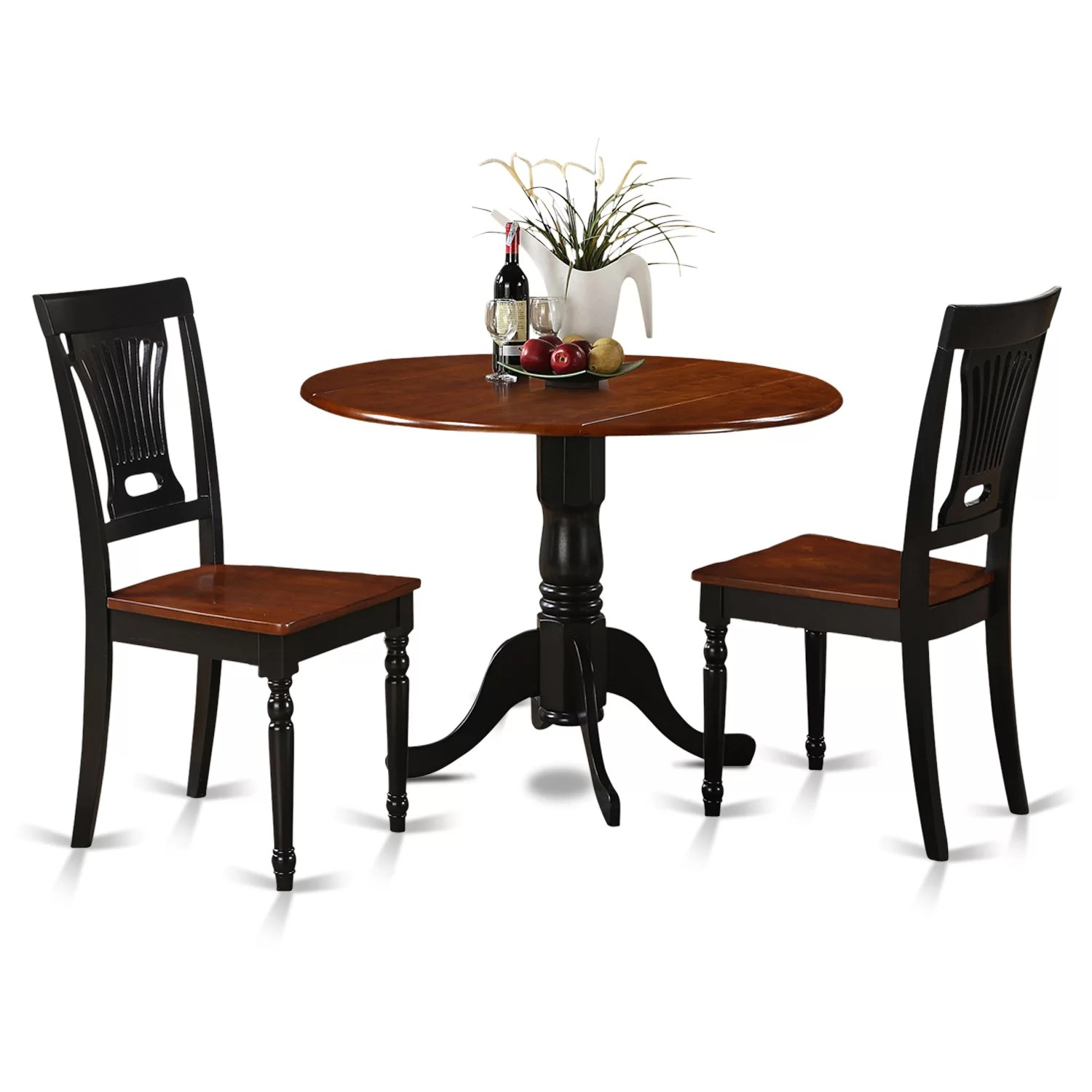 Roundabout Chair Wooden Importers Dublin 3 Piece Dining Set And Reviews Wayfair