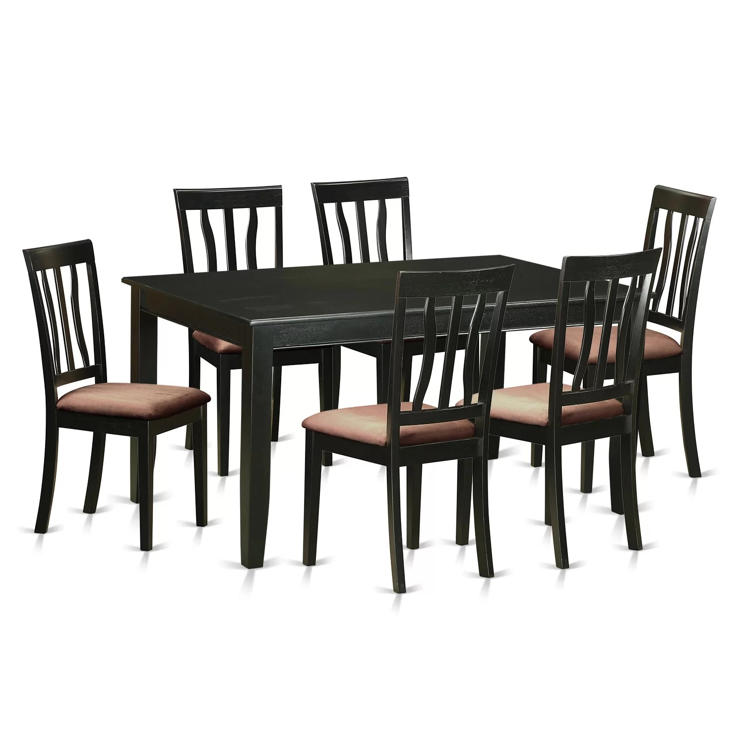 6 Dining Room Chairs Wooden Importers Dudley 7 Piece Dining Set Wayfair