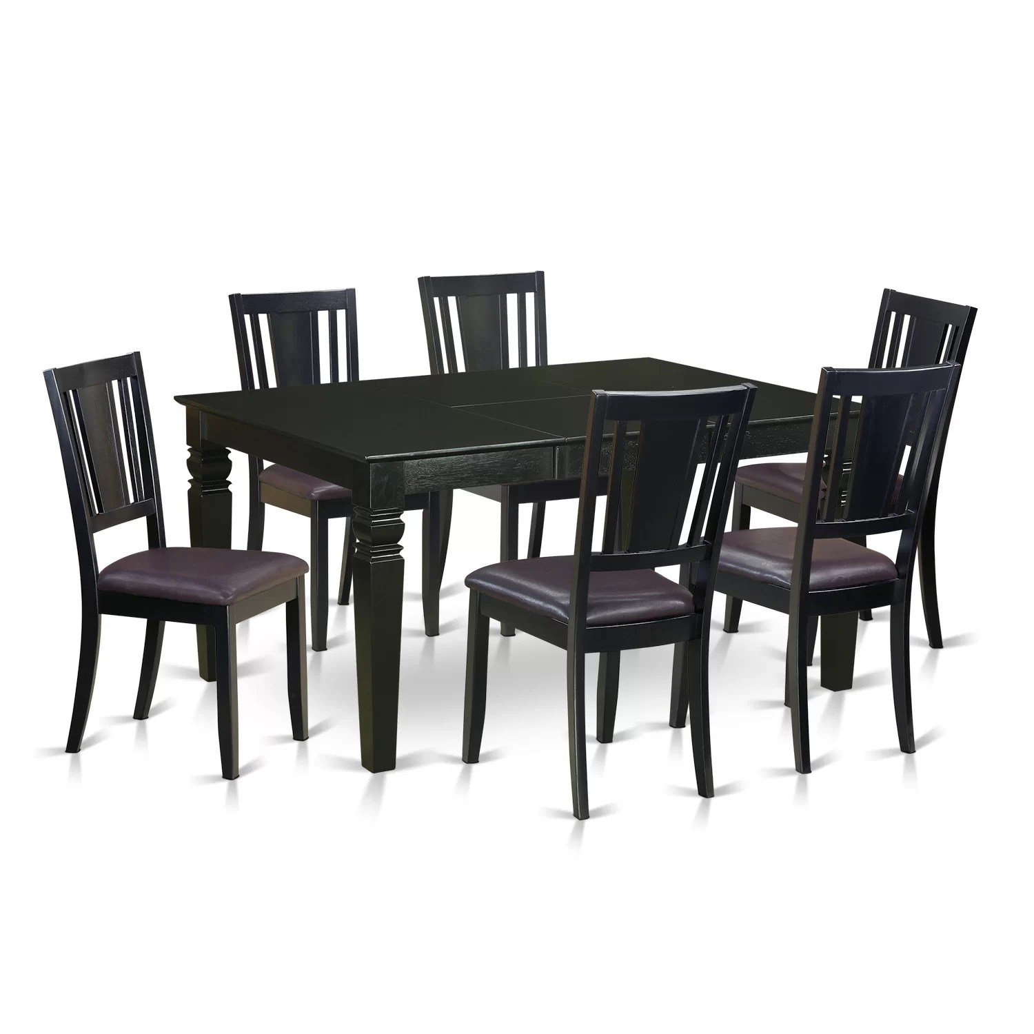 6 Dining Room Chairs Wooden Importers Weston 7 Piece Dining Set Wayfair