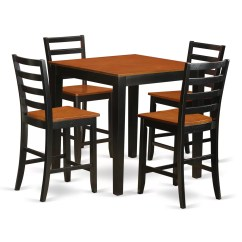 Tall Table And Chairs Eames Leather Chair Dining Wooden Importers 5 Piece Counter Height Pub Set