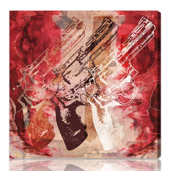 """Oliver Gal Lab Creative """"guns And Roses"""" Graphic Art"""