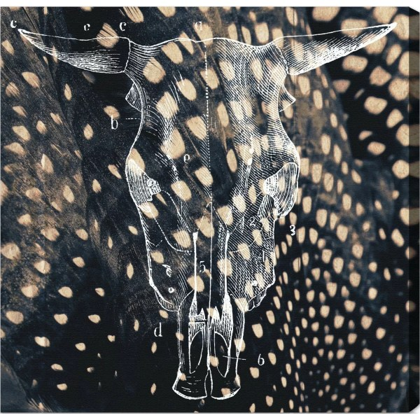 Oliver Gal Ox Graphic Art Wrapped Canvas &