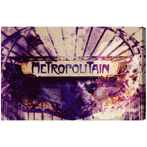 Oliver Gal Metropolitain Graphic Art Canvas