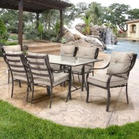 Red Barrel Studio Afton 7 Piece Outdoor Dining Set with ...