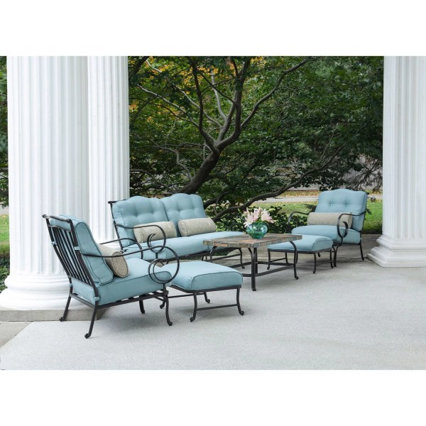 Hanover Oceana 6 Piece Patio Set With Cushions &