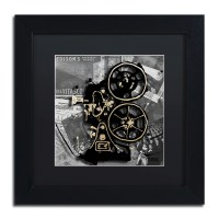 "Trademark Art ""Movie Projector"" by Roderick Stevens Framed"